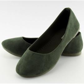 Baleriny damskie zielone JX1018 Green 1