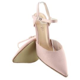 Sandałki na szpilce różowe J1126-1 Pink 2