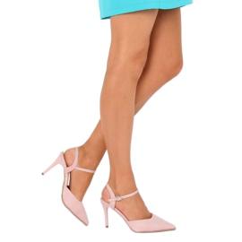 Sandałki na szpilce różowe J1126-1 Pink 3