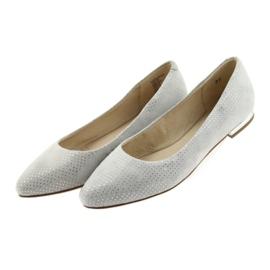 Caprice balerinki buty damskie 22104 szare 4