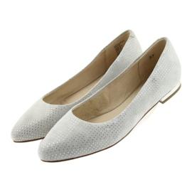 Caprice balerinki buty damskie 22104 szare 3