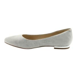 Caprice balerinki buty damskie 22104 szare 2
