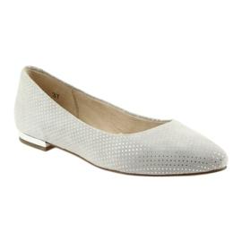 Caprice balerinki buty damskie 22104 szare 1
