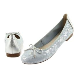 Caprice balerinki buty damskie 22102 niebieskie szare 5