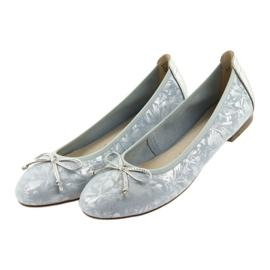 Caprice balerinki buty damskie 22102 niebieskie szare 4