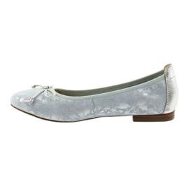 Caprice balerinki buty damskie 22102 niebieskie szare 2