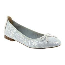 Caprice balerinki buty damskie 22102 niebieskie szare 1