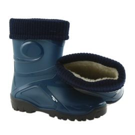 Demar kalosze buty damskie ciepła skarpeta granatowe 3