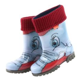 Demar buty dziecięce kalosze z ciepłą skarpetą czarne niebieskie szare czerwone 4