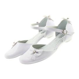 Miko czółenka dziecięce balerinki komunijne białe 4