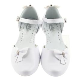 Miko czółenka dziecięce balerinki komunijne białe 3