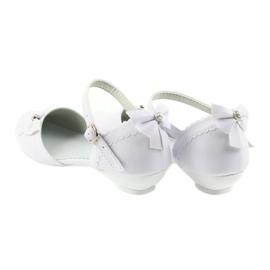 Miko czółenka dziecięce balerinki komunijne białe 2