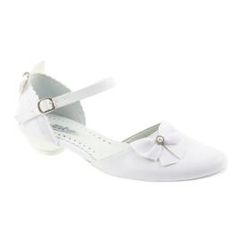 Miko czółenka dziecięce balerinki komunijne białe 1