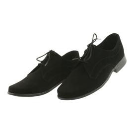 Miko półbuty dziecięce zamszowe buty komunijne czarne 4