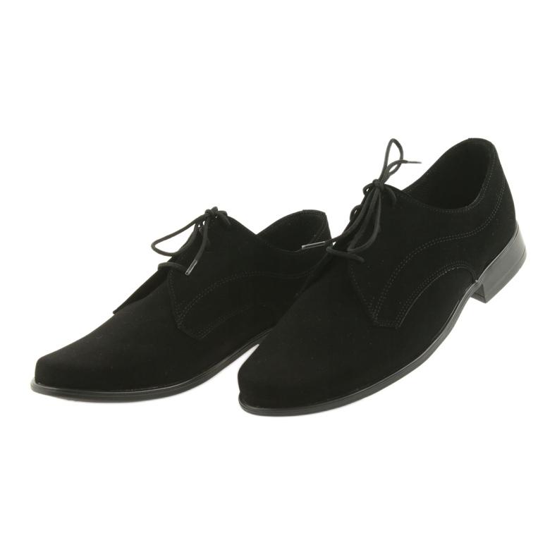Czarne Miko półbuty dziecięce zamszowe buty komunijne zdjęcie 4