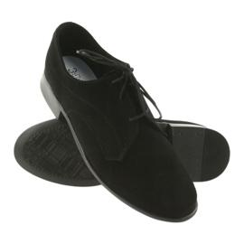 Miko półbuty dziecięce zamszowe buty komunijne czarne 3