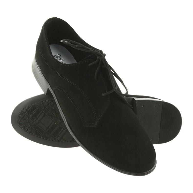 Czarne Miko półbuty dziecięce zamszowe buty komunijne zdjęcie 3