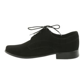 Miko półbuty dziecięce zamszowe buty komunijne czarne 2