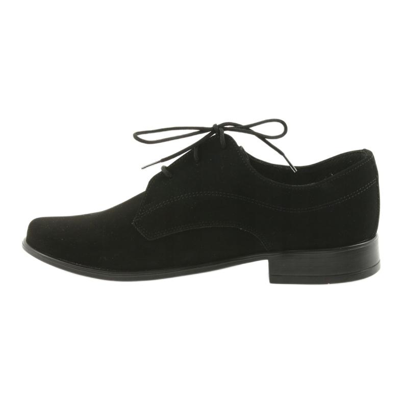 Czarne Miko półbuty dziecięce zamszowe buty komunijne zdjęcie 2
