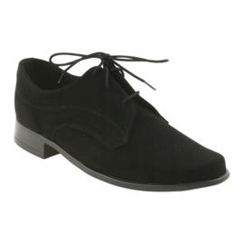 Miko półbuty dziecięce zamszowe buty komunijne czarne 1