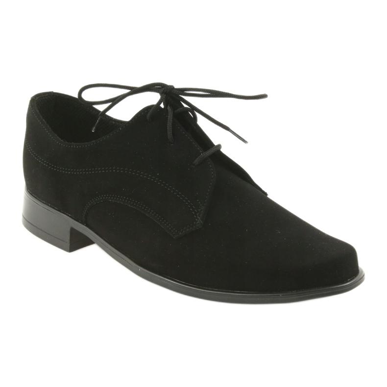 Czarne Miko półbuty dziecięce zamszowe buty komunijne zdjęcie 1