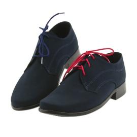 Miko półbuty dziecięce zamszowe buty komunijne granatowe 4