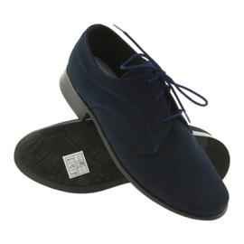 Miko półbuty dziecięce zamszowe buty komunijne granatowe 3