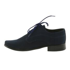 Miko półbuty dziecięce zamszowe buty komunijne granatowe 2