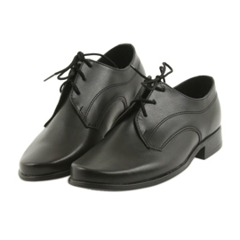Miko półbuty dziecięce buty chłopięce komunijne czarne 4