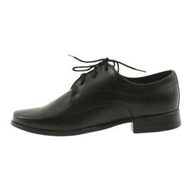 Miko półbuty dziecięce buty chłopięce komunijne czarne 2