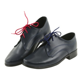 Miko półbuty dziecięce buty komunijne granatowe 4