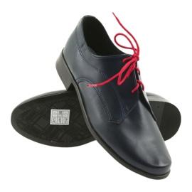 Miko półbuty dziecięce buty komunijne granatowe 3