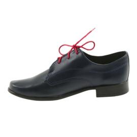 Miko półbuty dziecięce buty komunijne granatowe 2