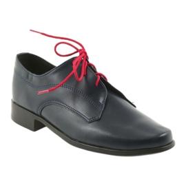 Miko półbuty dziecięce buty komunijne granatowe 1
