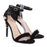 Sandałki na szpilce czarne 708-18 Black zdjęcie 3