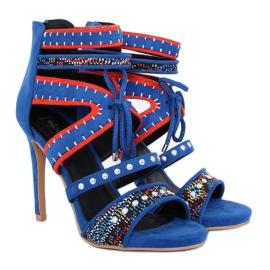Sandałki gladiatorki niebieskie MT029 Blue 2