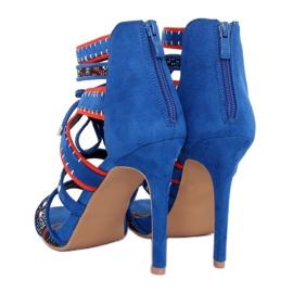 Sandałki gladiatorki niebieskie MT029 Blue 1