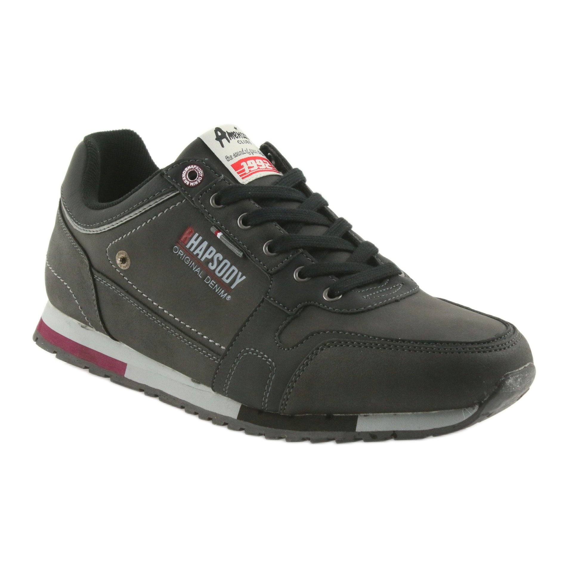 ADI buty męskie sportowe American Club RH0319 czarne