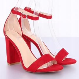 Sandałki na słupku czerwone Y2385-27 Red 6
