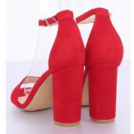Sandałki na słupku czerwone Y2385-27 Red 5