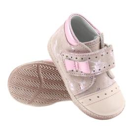 Trzewiki na rzepy buty dziecięce Ren But 1535 róż flamingi różowe 3