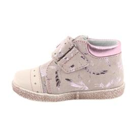 Trzewiki na rzepy buty dziecięce Ren But 1535 róż flamingi różowe 2