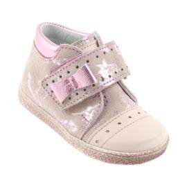 Trzewiki na rzepy buty dziecięce Ren But 1535 róż flamingi różowe 1