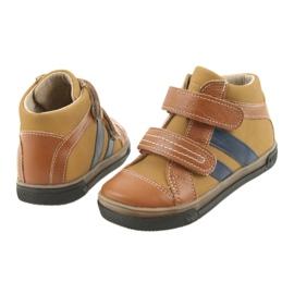 Trzewiki buty dziecięce na rzepy Ren But 3225 rudy/granat 4