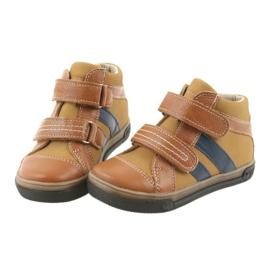 Trzewiki buty dziecięce na rzepy Ren But 3225 rudy/granat 3