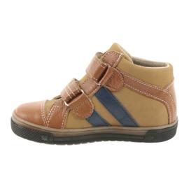 Trzewiki buty dziecięce na rzepy Ren But 3225 rudy/granat 2