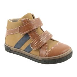 Trzewiki buty dziecięce na rzepy Ren But 3225 rudy/granat 1