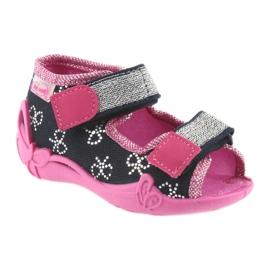Befado obuwie dziecięce 242P089 różowe granatowe 2