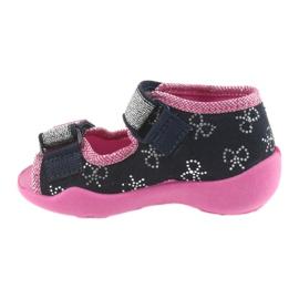 Befado obuwie dziecięce 242P089 różowe granatowe 3