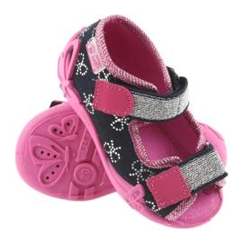 Befado obuwie dziecięce 242P089 różowe granatowe 4